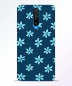 Blue Flower Poco X2 Back Cover