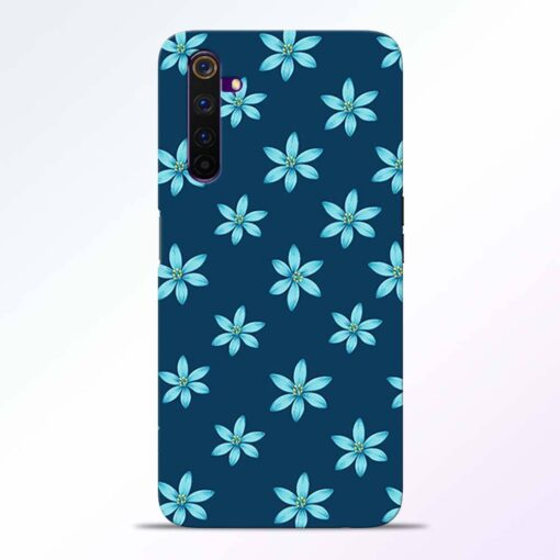 Blue Flower Realme 6 Back Cover