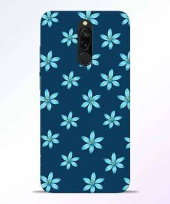 Blue Flower Redmi 8 Back Cover