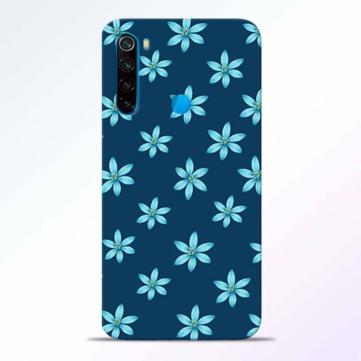 Blue Flower Redmi Note 8 Back Cover