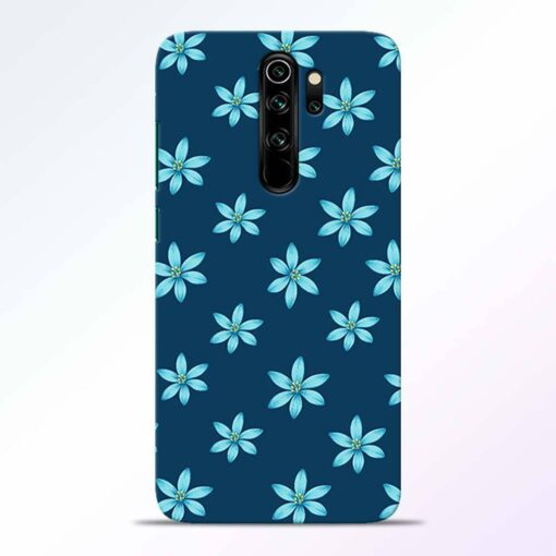 Blue Flower Redmi Note 8 Pro Back Cover