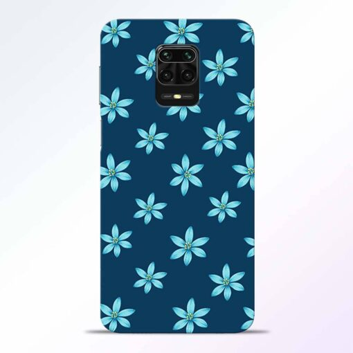 Blue Flower Redmi Note 9 Pro Back Cover