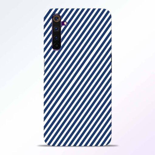 Blue White Stripes Realme 6 Back Cover