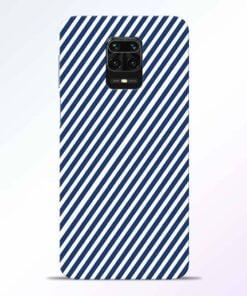 Blue White Stripes Redmi Note 9 Pro Back Cover