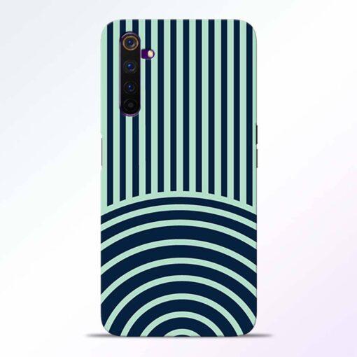 Circle Stripes Realme 6 Back Cover