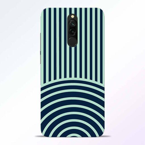 Circle Stripes Redmi 8 Back Cover