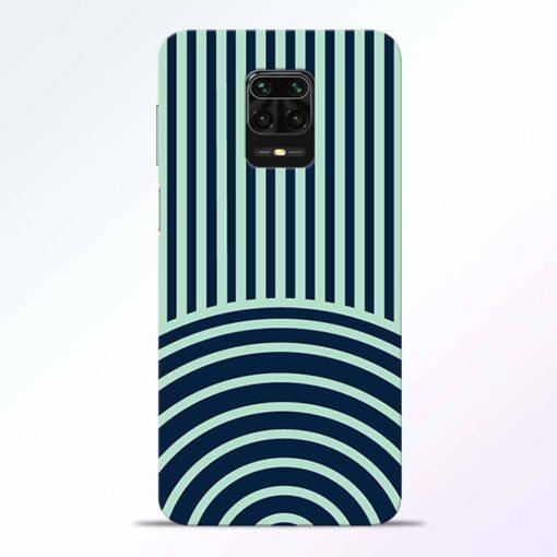 Circle Stripes Redmi Note 9 Pro Back Cover