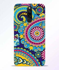 Colorful Mandala Redmi 8 Back Cover