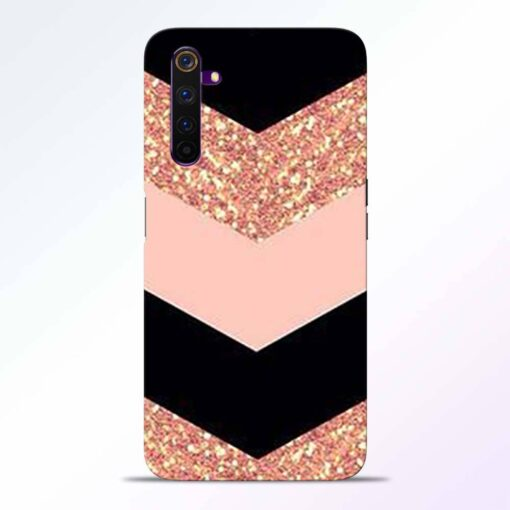 Cute Gold Rose Realme 6 Back Cover