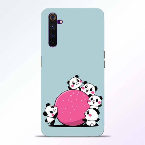 Cute Panda Realme 6 Back Cover
