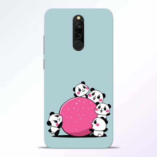 Cute Panda Redmi 8 Back Cover