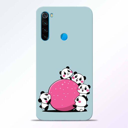 Cute Panda Redmi Note 8 Back Cover