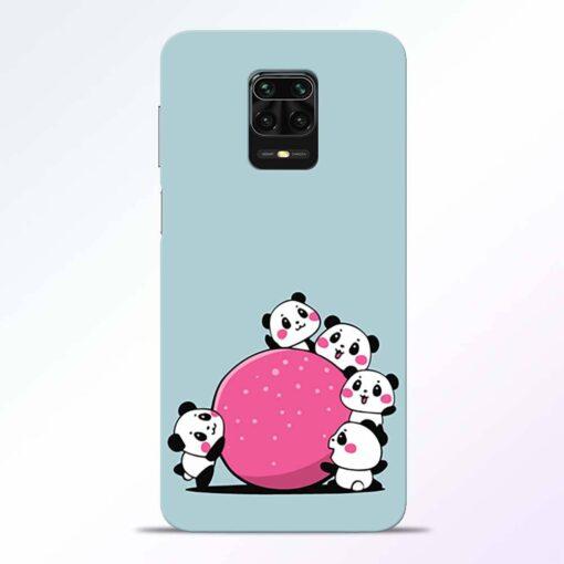 Cute Panda Redmi Note 9 Pro Back Cover