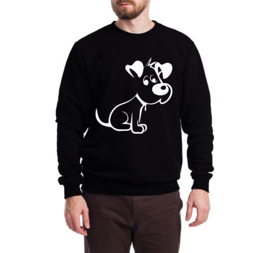 Cute Puppy Sweatshirt for Men