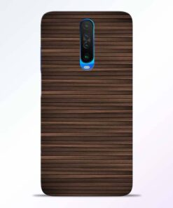 Dark Wood Poco X2 Back Cover