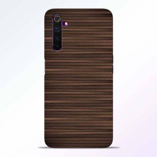 Dark Wood Realme 6 Back Cover