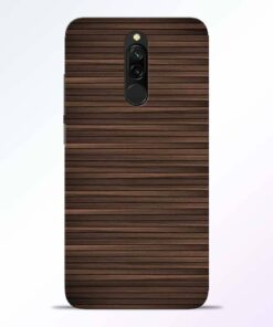 Dark Wood Redmi 8 Back Cover