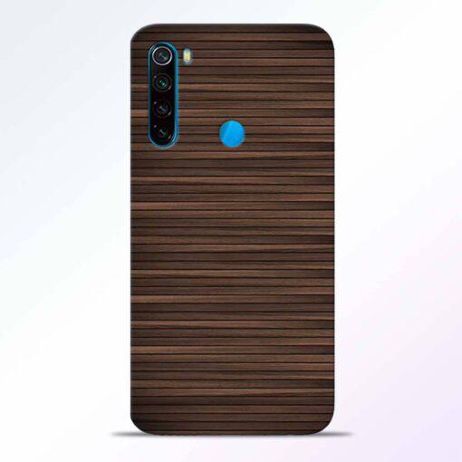 Dark Wood Redmi Note 8 Back Cover