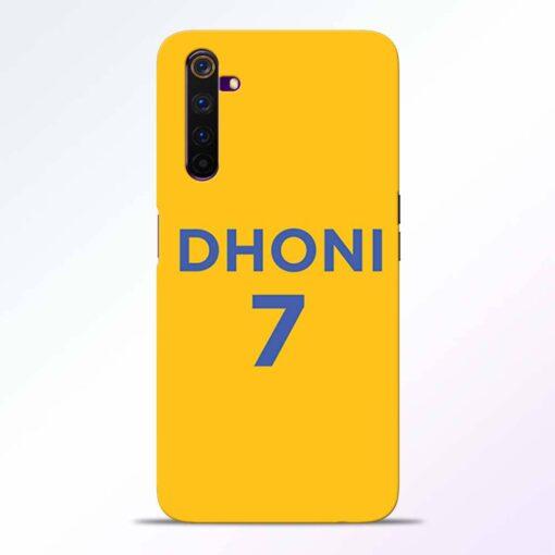 Dhoni 7 Realme 6 Back Cover
