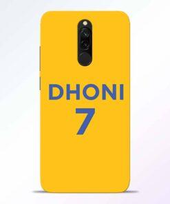 Dhoni 7 Redmi 8 Back Cover