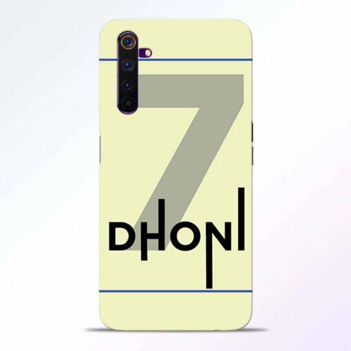 Dhoni Lover Realme 6 Back Cover