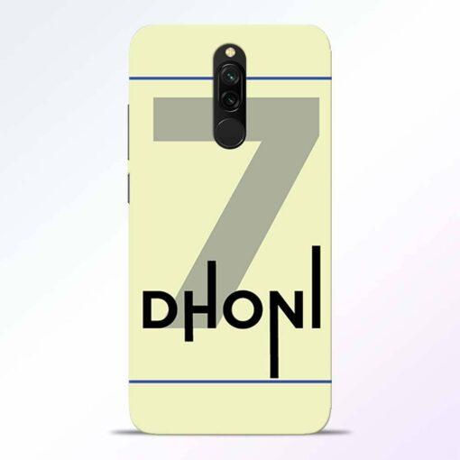 Dhoni Lover Redmi 8 Back Cover