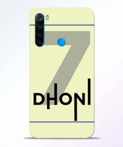 Dhoni Lover Redmi Note 8 Back Cover