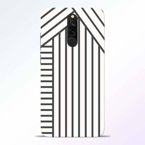 Diagonal Stripes Redmi 8 Back Cover