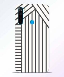 Diagonal Stripes Redmi Note 8 Back Cover