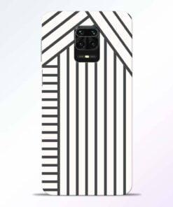 Diagonal Stripes Redmi Note 9 Pro Back Cover