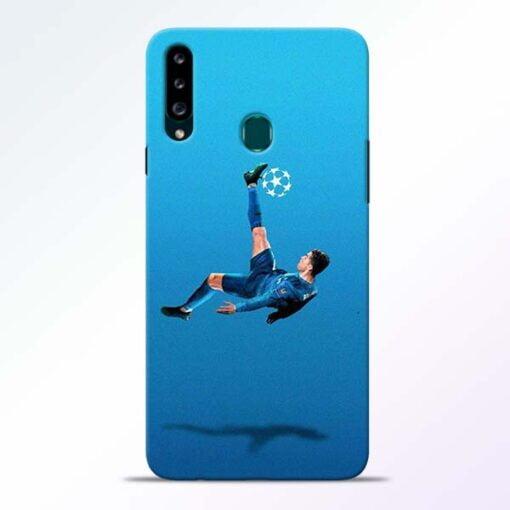 Football Kick Samsung Galaxy A20s Mobile Cover - CoversGap