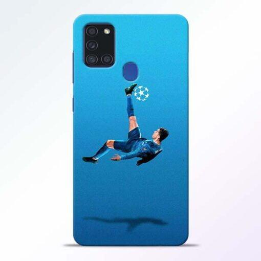 Football Kick Samsung Galaxy A21s Mobile Cover - CoversGap