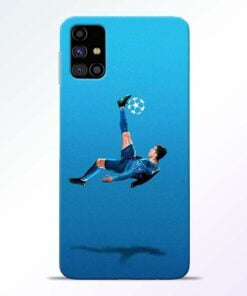 Football Kick Samsung Galaxy M31s Mobile Cover - CoversGap
