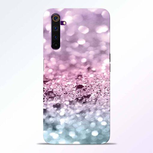 Glitter Printed Realme 6 Back Cover