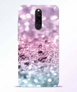 Glitter Printed Redmi 8 Back Cover