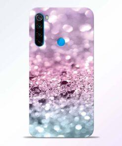 Glitter Printed Redmi Note 8 Back Cover