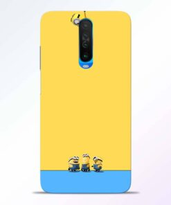 Hanging Minions Poco X2 Back Cover