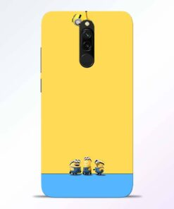 Hanging Minions Redmi 8 Back Cover