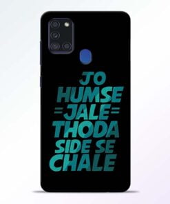 Jo Humse Jale Samsung Galaxy A21s Mobile Cover - CoversGap