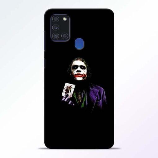 Joker Card Samsung Galaxy A21s Mobile Cover - CoversGap