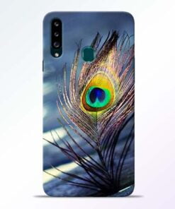 Krishna More Pankh Samsung Galaxy A20s Mobile Cover - CoversGap