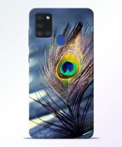 Krishna More Pankh Samsung Galaxy A21s Mobile Cover - CoversGap