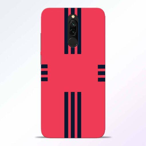 Left Right Stripes Redmi 8 Back Cover