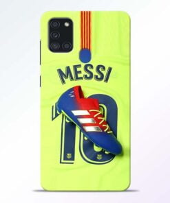 Leo Messi Samsung Galaxy A21s Mobile Cover - CoversGap
