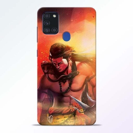 Lord Mahadev Samsung Galaxy A21s Mobile Cover - CoversGap