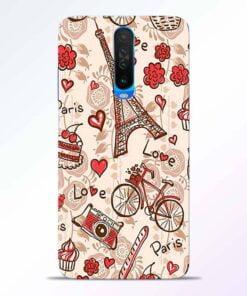 Love Paris Poco X2 Back Cover