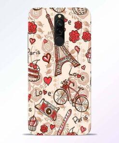 Love Paris Redmi 8 Back Cover