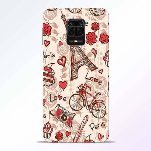Love Paris Redmi Note 9 Pro Back Cover