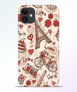 Love Paris iPhone 11 Back Cover