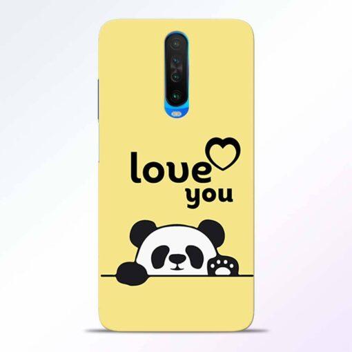 Love U Panda Poco X2 Back Cover